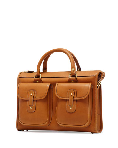 Examiner No. 5 Leather Briefcase, Chestnut