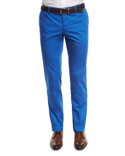 Stanino Slim-Fit Stretch Pants, Blue