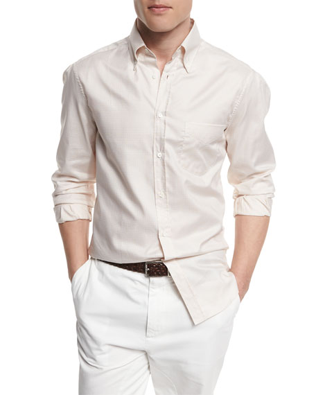 Brunello Cucinelli Long-Sleeve Sport Shirt