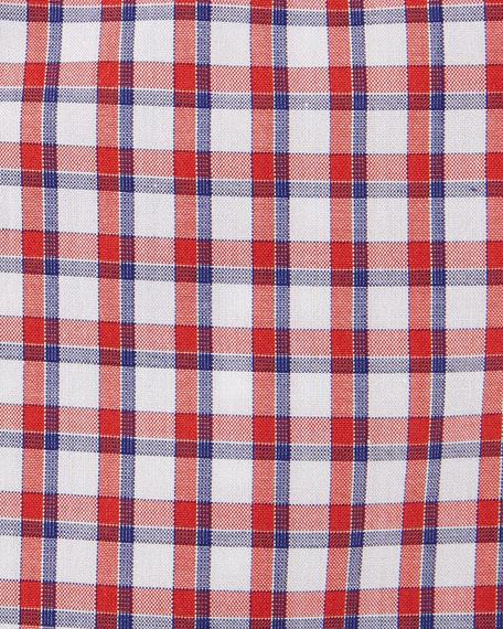 Box-Check Dress Shirt, Red/Navy