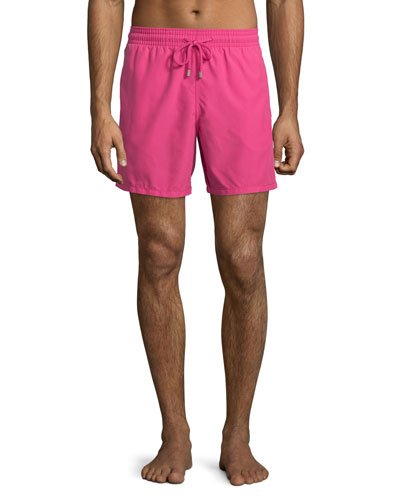 Moorea Solid Swim Trunks, Pink