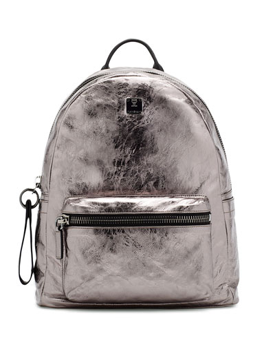 Transformer Foil-Leather Backpack, Gunmetal
