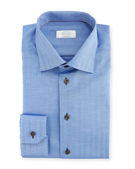 Eton Contemporary-Fit Solid Dress Shirt, Blue