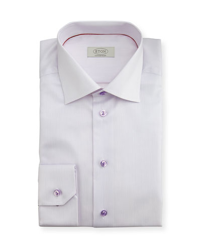 Contemporary-Fit Micro-Stripe Dress Shirt, Lavender