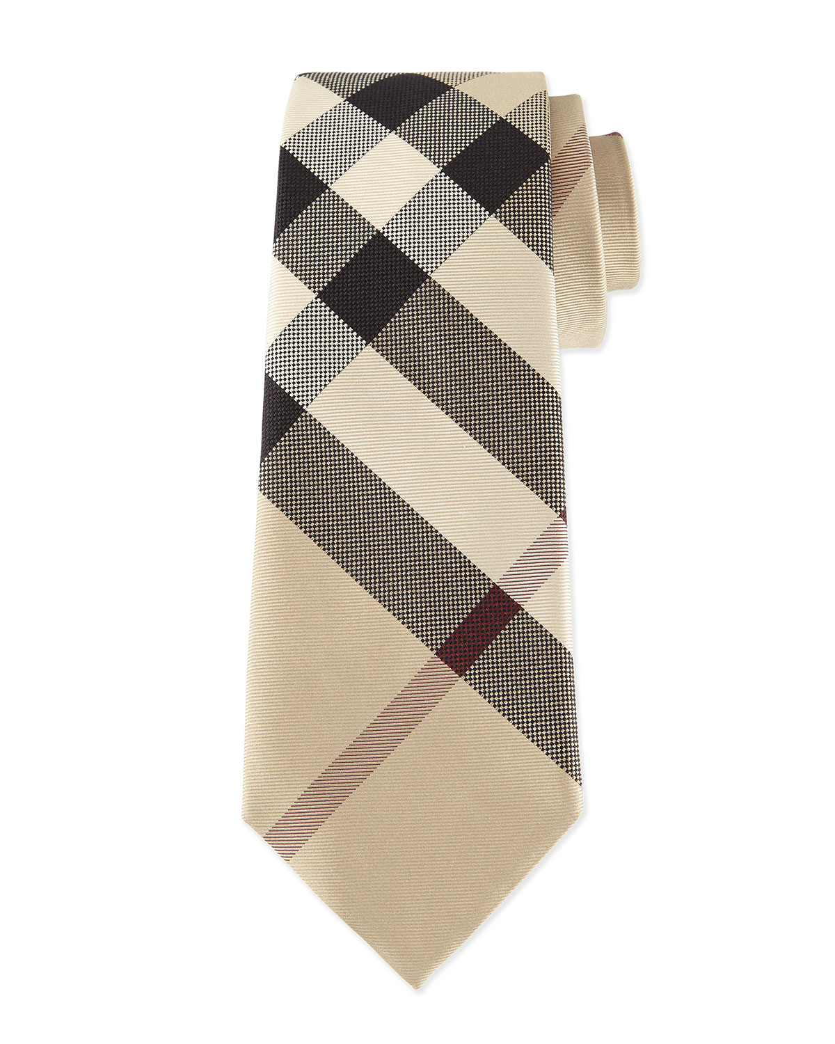 ba8aab52ff3c Burberry Classic Check Silk Tie, Taupe | Neiman Marcus