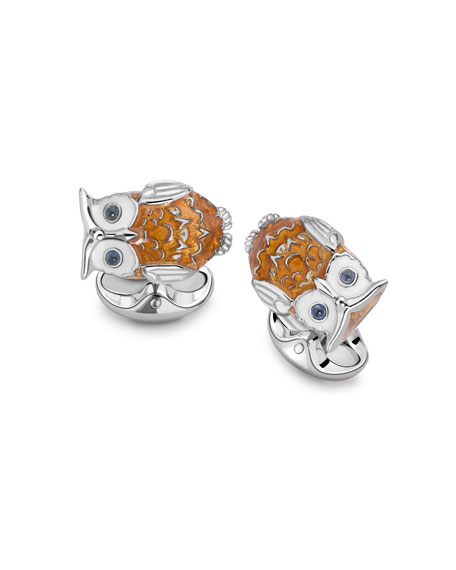 Owl Sterling Silver Cuff Links