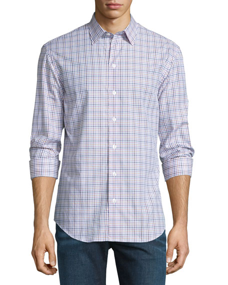 Armani Collezioni Plaid Long-Sleeve Sport Shirt, Multi