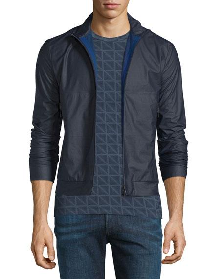 Armani Collezioni Rubber Short Jacket, Black