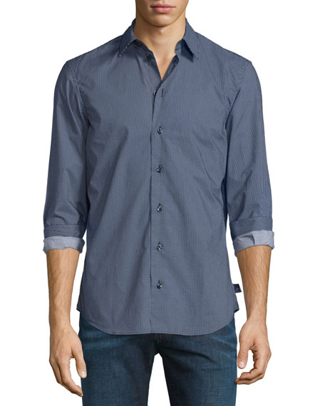 Armani Collezioni Small Triangle-Print Sport Shirt, Multi