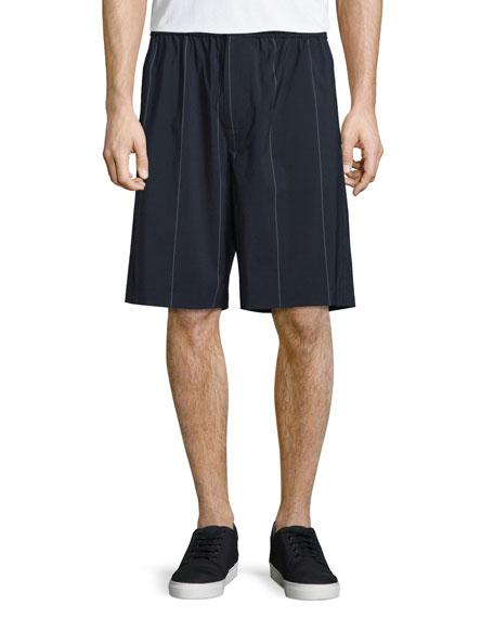 Alexander Wang Pinstripe Board Shorts, Midnight
