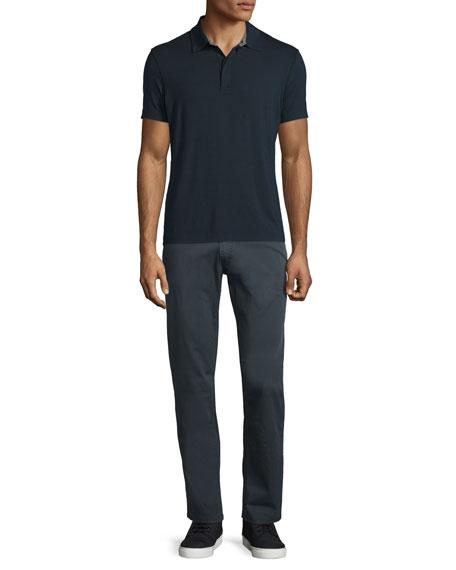 Five-Pocket Stretch-Cotton Pants, Charcoal