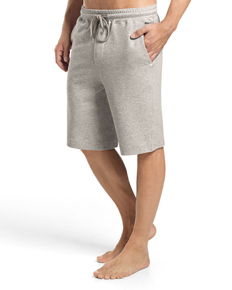 Hanro Raul Knit Lounge Shorts, Light Gray