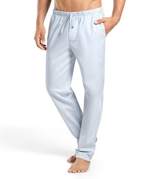 Alvaro Woven Lounge Pants, Light Blue