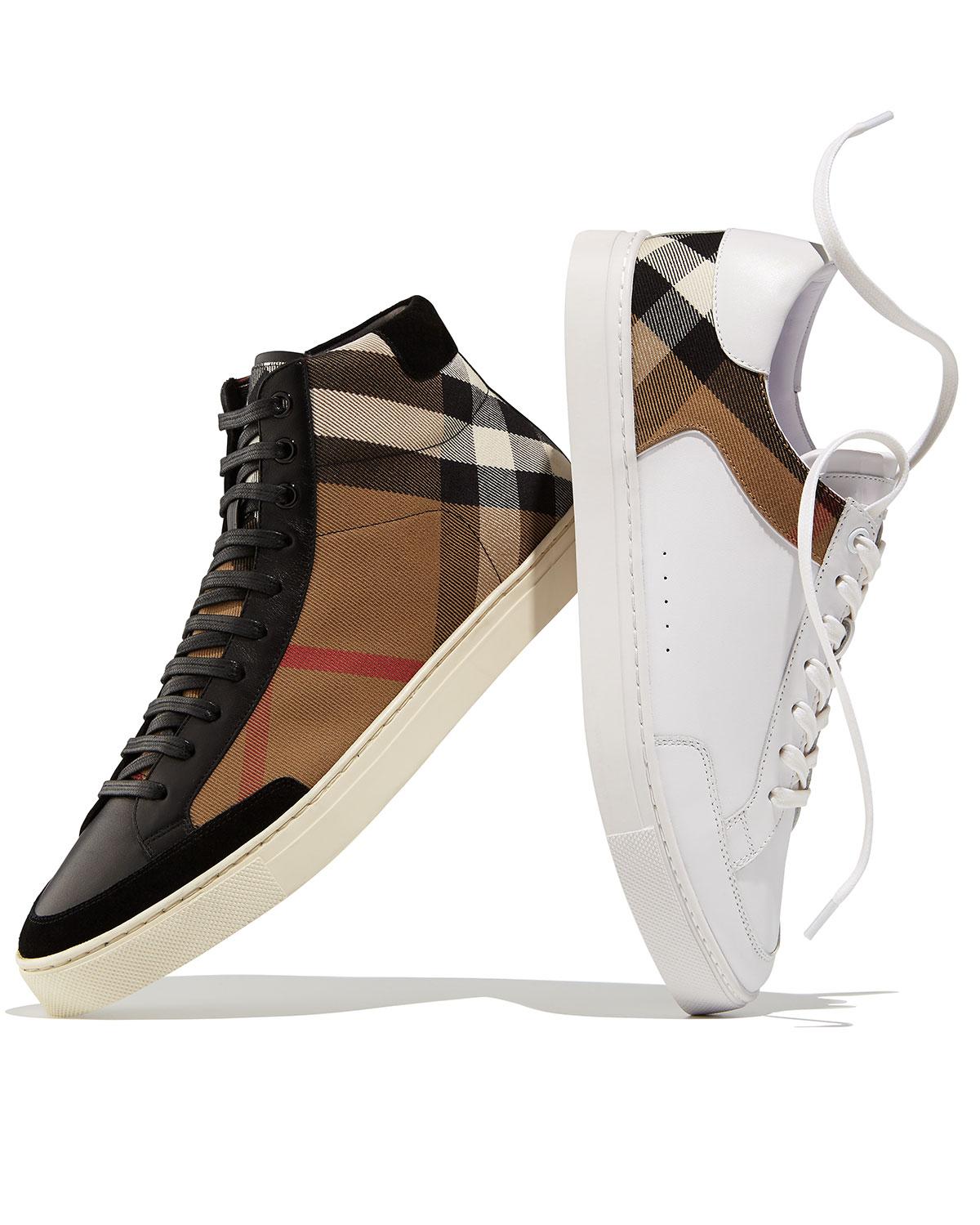 burberry mens high top sneakers