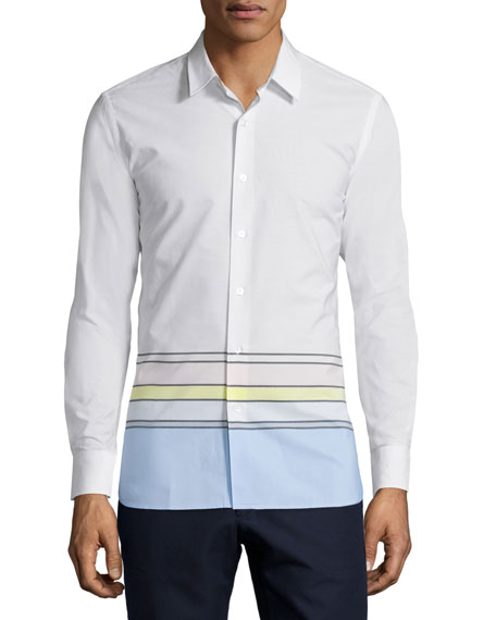 Opening Ceremony Button-Front Dress Shirt, White/Multi