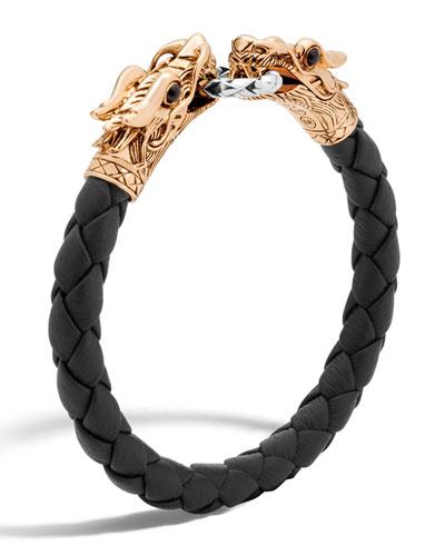 Men's Legends Naga Dragon Leather Bracelet