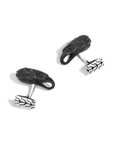 Men's Batu Legends Eagle Head Cuff Links