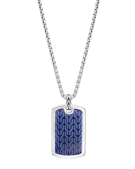 John Hardy Men's Classic Chain Silver Dog Tag
