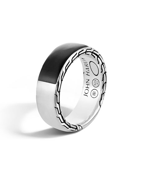 John Hardy Men's Classic Chain Silver Band Ring