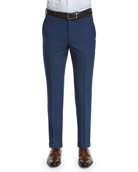 Ermenegildo Zegna High-Performance Wool Twill Trousers, Blue