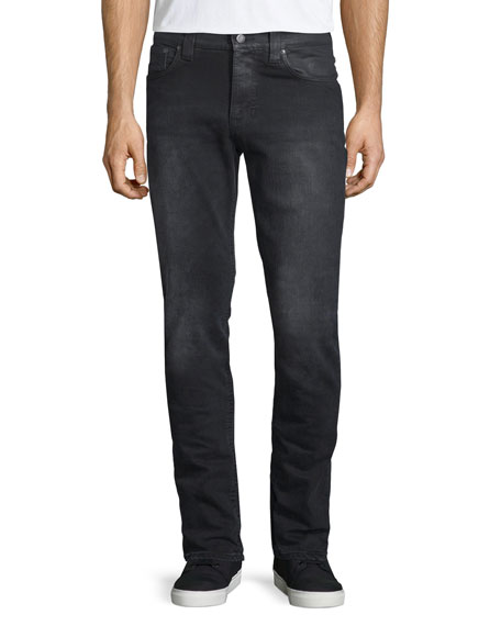 Nudie Lean Dean Black Changes Slim-Straight Jeans, Black