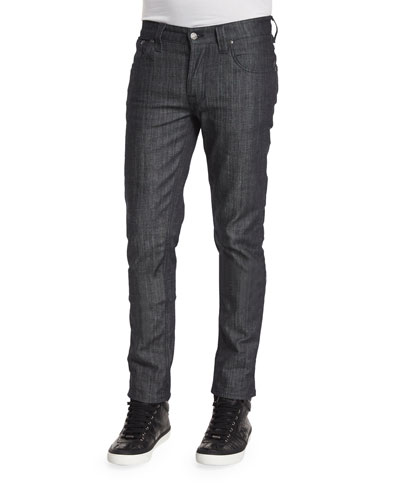 Nudie Grim Trim Dry Clean Denim Jeans, Dark