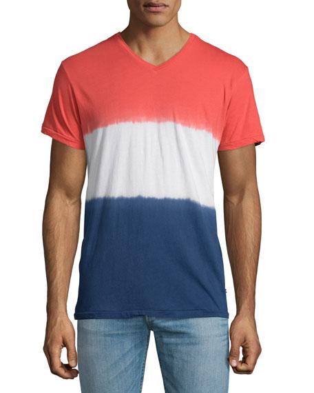Sol Angeles Naval Dip-Dyed V-Neck T-Shirt, Multi