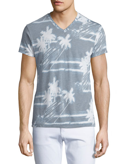 Sol Angeles Palm Breeze V-Neck Graphic T-Shirt, Light