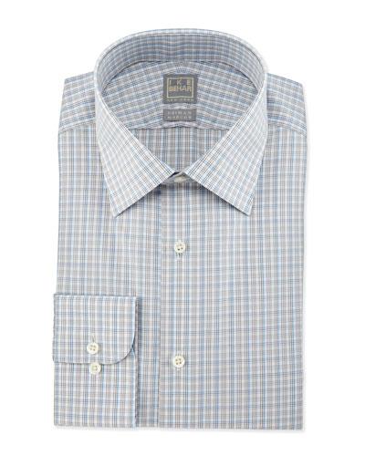 Check Woven Dress Shirt, Gray