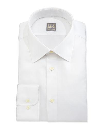 Basic Solid Dress Shirt, White
