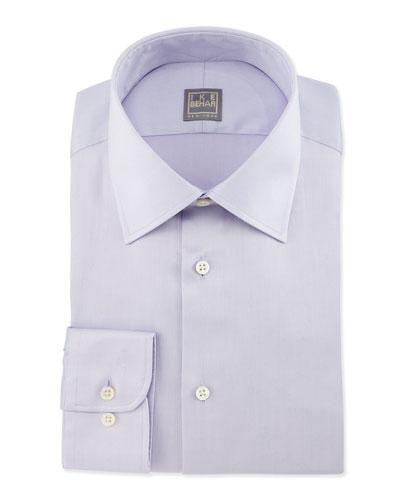 Basic Solid Dress Shirt, Lilac