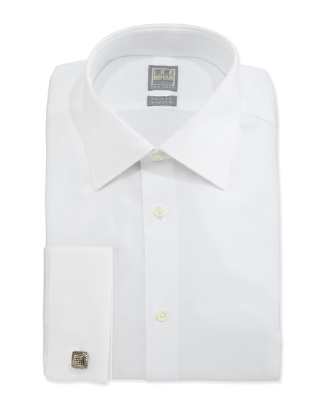 Ike Behar Basic Solid Dress Shirt, White