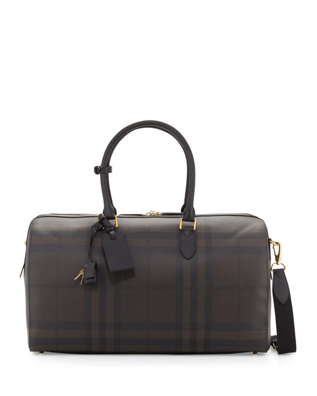 Burberry Men's Boston 52 London Check Holdall Bag,
