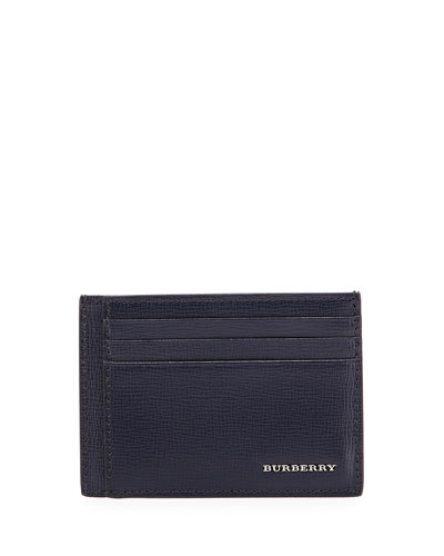 Bernie Leather Card Case, Navy