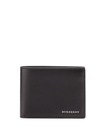 London Leather Hipfold Wallet, Black