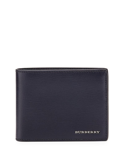 London Leather Hipfold Wallet, Navy