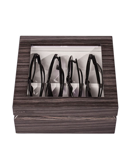 Oyobox Mini Eyewear Organizer Case, Zebra Gray