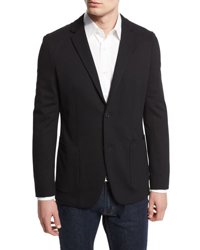 Tobius Harvel Two-Button Sport Coat, Black
