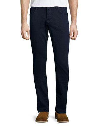 Blake Covert Blue Slim-Straight Denim Jeans, Navy