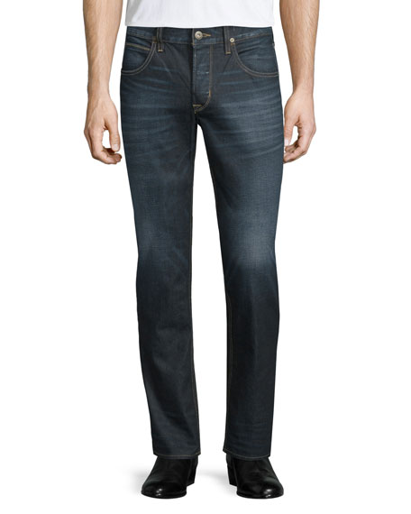 Hudson Men's Blake Dunlin Washed Denim Jeans, Blue