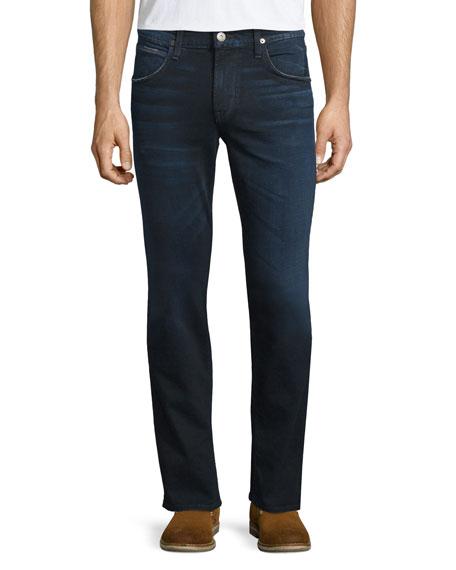 Hudson Jeans Blake Polaris Slim-Straight Denim Jeans, Dark Blue
