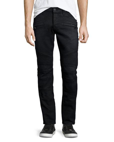 Hudson Jeans Blinder Biker Gilroy Moto Skinny Jeans, Black
