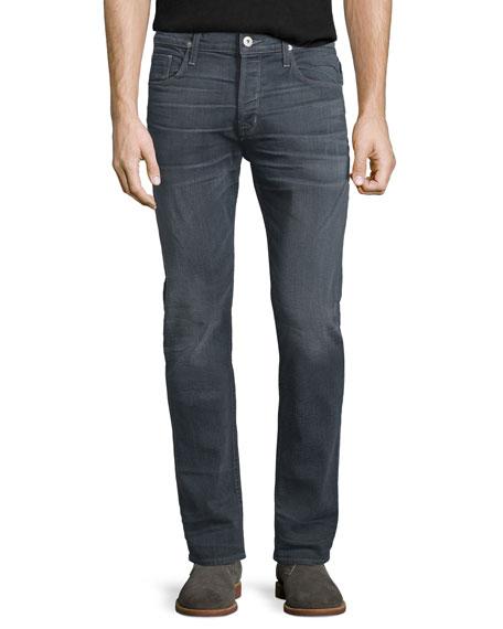 Hudson Jeans Sartor Turnstone Washed Skinny-Leg Denim Jeans, Blue