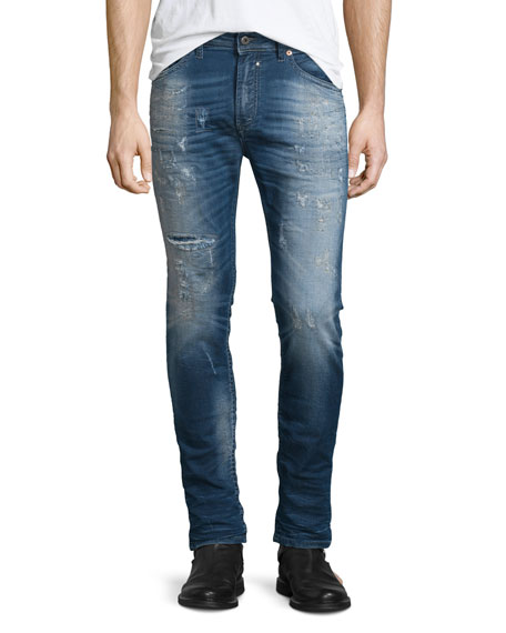 Diesel Spender-NE Distressed Jogg Jeans, Blue