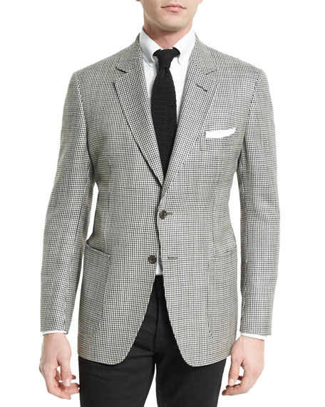 TOM FORD O'Connor Base Houndstooth Silk-Blend Sport Jacket,