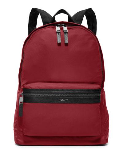 Kent Lightweight Nylon Backpack, Cardinal