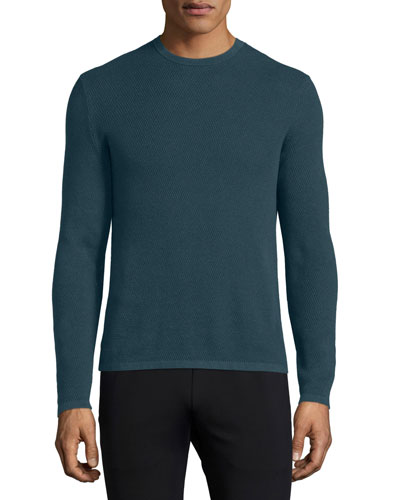 Savaro Textured Knit Crewneck Sweater, Multi