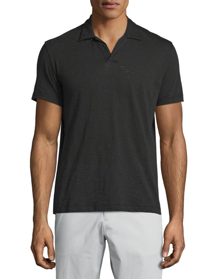Theory Willen Short-Sleeve Polo Shirt, Black