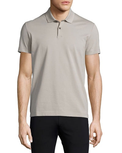 Sandhurst Short-Sleeve Pique Polo Shirt, Putty