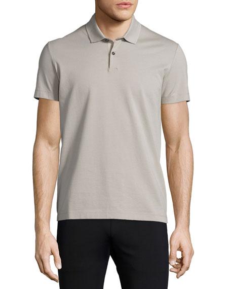 TheorySandhurst Short-Sleeve Pique Polo Shirt, Putty